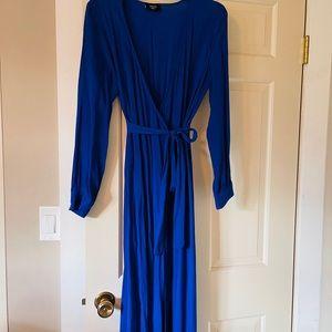 Vici maxi wrap dress with self tie